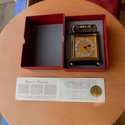 Luxor Beyer Zurich carriage clock with original box and pepper 1963
