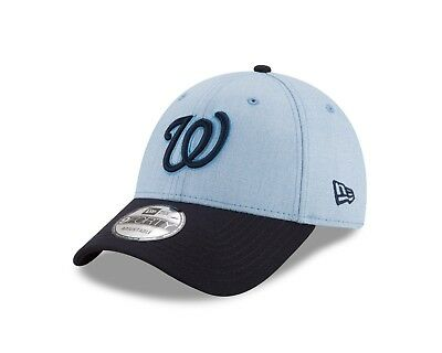Washington Nationals New Era Father's Day Hat 9Forty- Light Blue