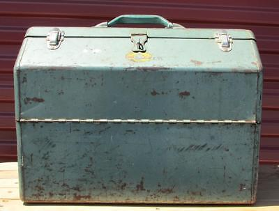 Vintage Simonsen Fishing Tackle Box & Contents #2/2 Full Lots of Lures,Spoons +
