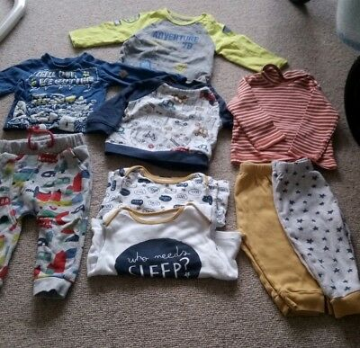 Baby Boys 6-9 Month Bundle Cars Mothercare TU pyjamas t shirt