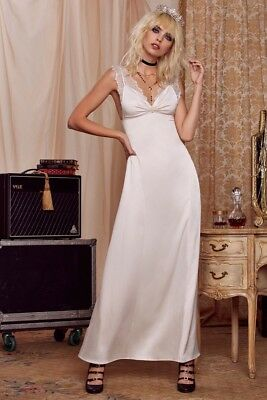 f5553691f4cc NWT Nasty Gal X Courtney Love Roseland Ballroom Maxi Dress, Cream, Sz S