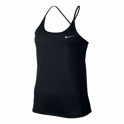 Nike Dry Miler Running Training Tank Top Black 831522 010 Womens Size Small NEW