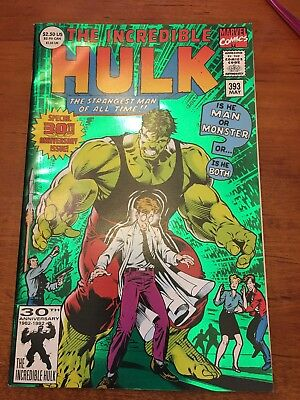 1992 MARVEL COMICS THE INCREDIBLE HULK #393 GREEN FOIL 30th ANNIVERSARY