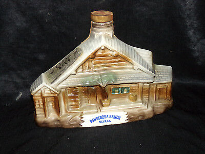 Vtg 1969 PONDEROSA RANCH NEVADA LAKE TAHOE Decanter Bottle Jim Beam Regal China