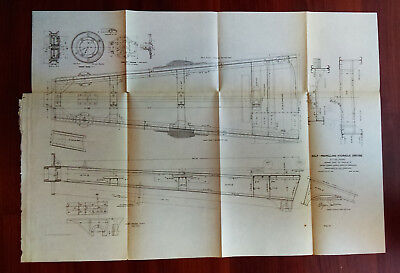 1903 Sketch Diagram Self-Propelling Hydraulic Dredge Cutter Frame Capt E Jadwin