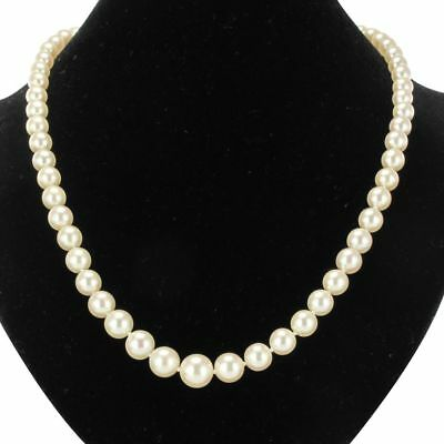Necklace antique cultured pearls Japan 18K Yellow Gold Vintage Classic Neckla