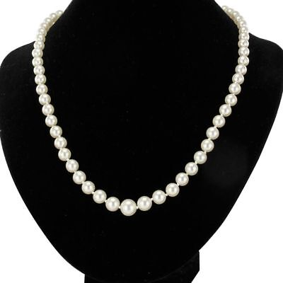 Necklace of cultured pearls his clasp gold pink Necklace