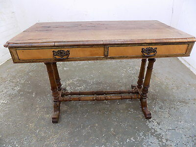 antique,victorian,shabby,console table,desk,hall table,drawers,turned legs,table