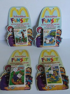 McDonaldland FunSet Activities Card Game LOT of 4x Go Fish,  Old Maid, Crazy