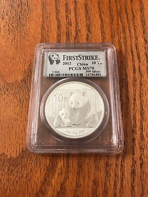 2012 First Strike Chinese Panda PCGS MS70 999 Fine. NO RESERVE AUCTION