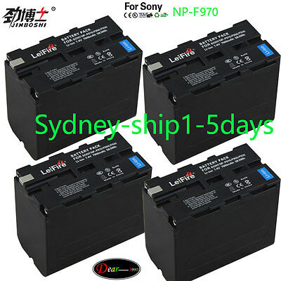 4x7900mAh Battery for Sony NP-F970 NP-F960 NP-F930 F770 CCD-TR TRV Camcorder