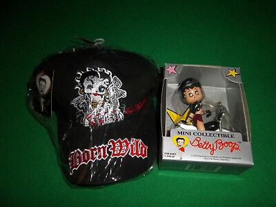 Betty Boop, Born Wild, Motorcycle Biker Cap and MINI Collectable Doll