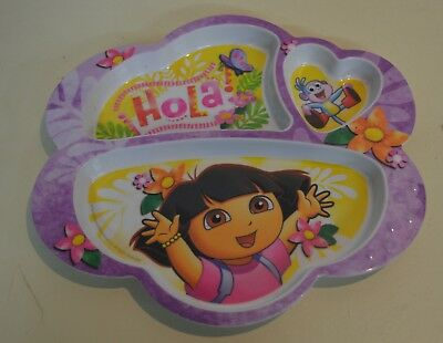 Dora The Explorer Plate Divided Dish Children 3 divider by YAK
