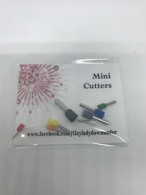 Mini Micro Polymer Clay And Metal Clay PMC cutters (set Of 8)