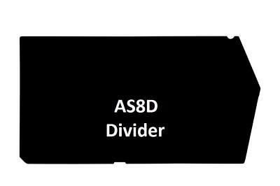 AS8D Pack of 12 Dividers (F-B) for VISIPLAS Picking Bin AS8