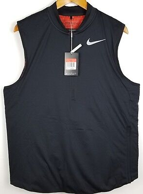 Nike AeroLayer Mens Golf Vest 833334 010 Retail $200 Black White Wind Resistant