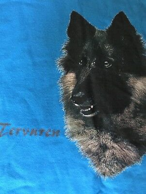 Tervuren Dog on GILDAN Brand Heavy Cotton, Color Turquoise, Size XL T-Shirt
