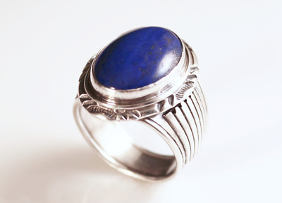 Will Denetdale - Sterling Silver Lapis Lazuli Ring - 9188-5