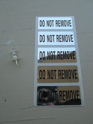100 1.75 x .75 Inch Chrome Tamper Evident DO NOT REMOVE Security Labels Stickers