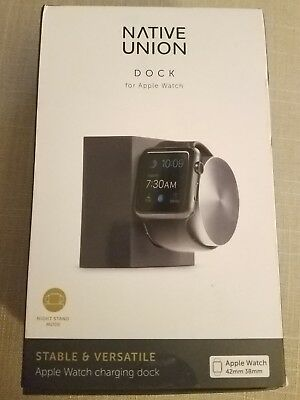 NEW Native Union Dock for Apple Watch Weighted Charging Dock - Slate
