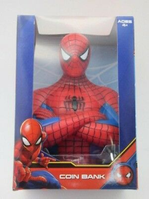 New Spiderman Coin Bank Marvel 6 inch ages 4+ Boys Gift