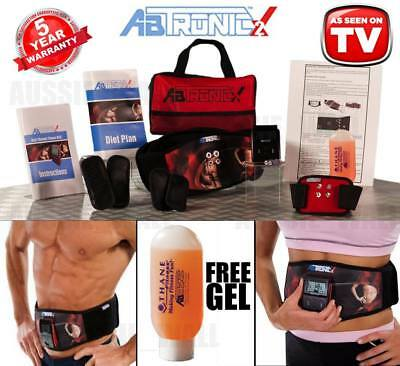 NEW ABTRONIC X2 Electro Muscle Slimming Toning Fitness Belt Vibrating Massager