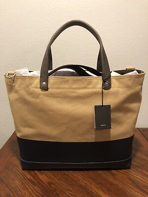 67f5dd7ea0 Authentic New Nwt Jack Spade  228 Dipped Coal Natural Tan Navy Blue Tote