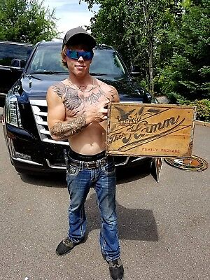 Vintage Rare Hamms Beer Brewery Family Package Wood Box Crate Bottle Sign