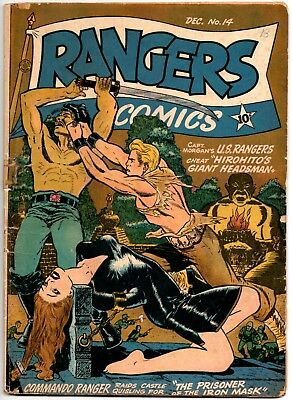 Rangers 14 (Fiction House / 12/43).  Solid G/vg 3.0 Classic Gga Bondage Cover!