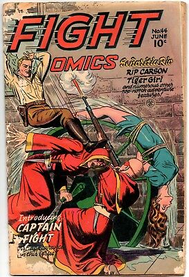 Fight Comics 44 (Fiction House 06/46) Classic Water Wheel Torture Cover!