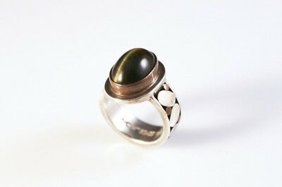 Ancient Echos - Sterling Silver Cabochon Ring- 8935-3