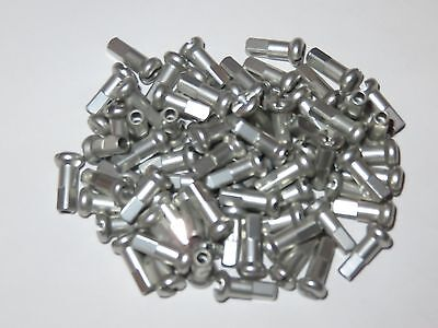 bag of 32 Silver Sapim Aluminium//Alloy 7075 T6 Heat Treated 12mm Nipples
