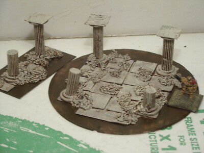 ancient terrain Greek Roman temple Acropolis ruins 15mm 10mm painted
