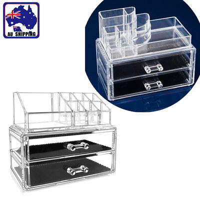 Acrylic Makeup Cosmetic Holder Jewellery Storage Organizer Box Drawers