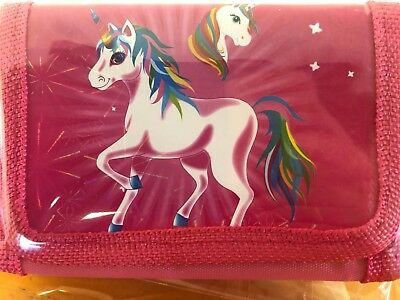 "Kids  Wallet/ Purse ""unicorn""  Boy/girl  Male/female Aussie Seller Party"