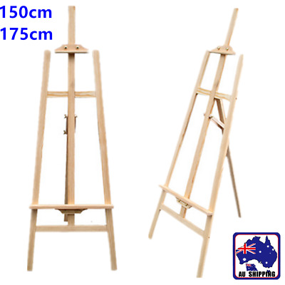 Pine Wood Easel Artist Art Display Painting Shop Tripod Stand Adjustable
