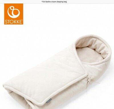 Stokke Cream Fleece Sleeping Bag,brand New ,ideal For Carrycot Or Moses Basket.