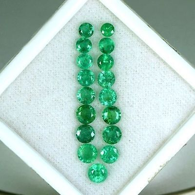 7.49 Cts Natural Top Green Emerald Round Cut Lot Loose Gemstone Untreated Zambia