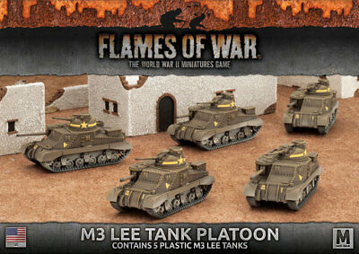 Flames of War: Fighting First - M3 Lee Tank Platoon (Plastic)