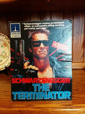 The Terminator, Vintage, VIDEO STORE Counter Top Cardboard Standee, USED, 1984