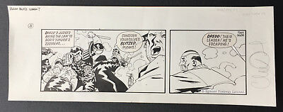 Judge Dredd Zoom Blitz 2000AD original comic art CHARLIE ADLARD