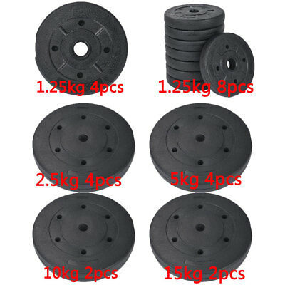 Weight Plates Set Free Dumbell Vinyl 1 inch Standard 10kg 20kg 30kg Gym Barbell