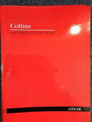 2 X Collins A24 A4 Series Analysis Book Ledger