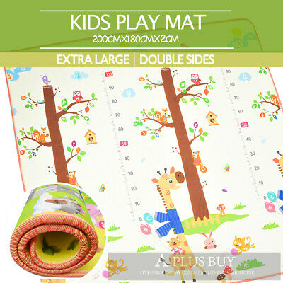 2x1.8m EF Large Baby Toddler Floor Rug Play Mat Animal Alphabet 20mm Thick XL