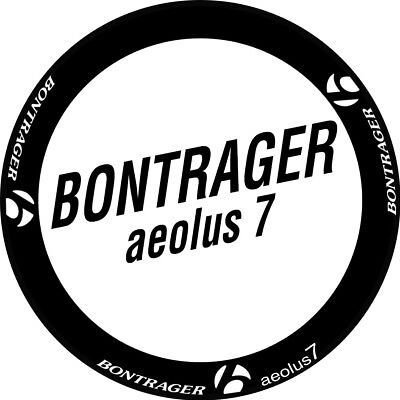 Two Wheels Set Stickers for BONTRAGER AEOLUS 7 Road Bike Carbon Race Decals