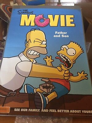 The Simpsons Movie Father And Son Poster