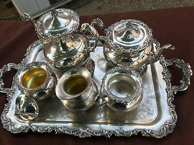 Ascot Sheffield Design Reproduction by Community. Vintage Silver-Plated set of 7