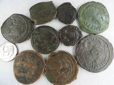MC-5  MIXED LOT OF BYZANTINE  RARE ANCIENT COINS-- 9 pcs