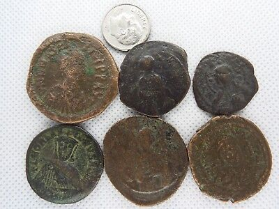 MC-2  MIXED LOT OF BYZANTINE  RARE ANCIENT COINS-- 6 pcs