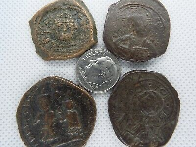MC-1  MIXED LOT OF BYZANTINE  RARE ANCIENT COINS-- 4 pcs